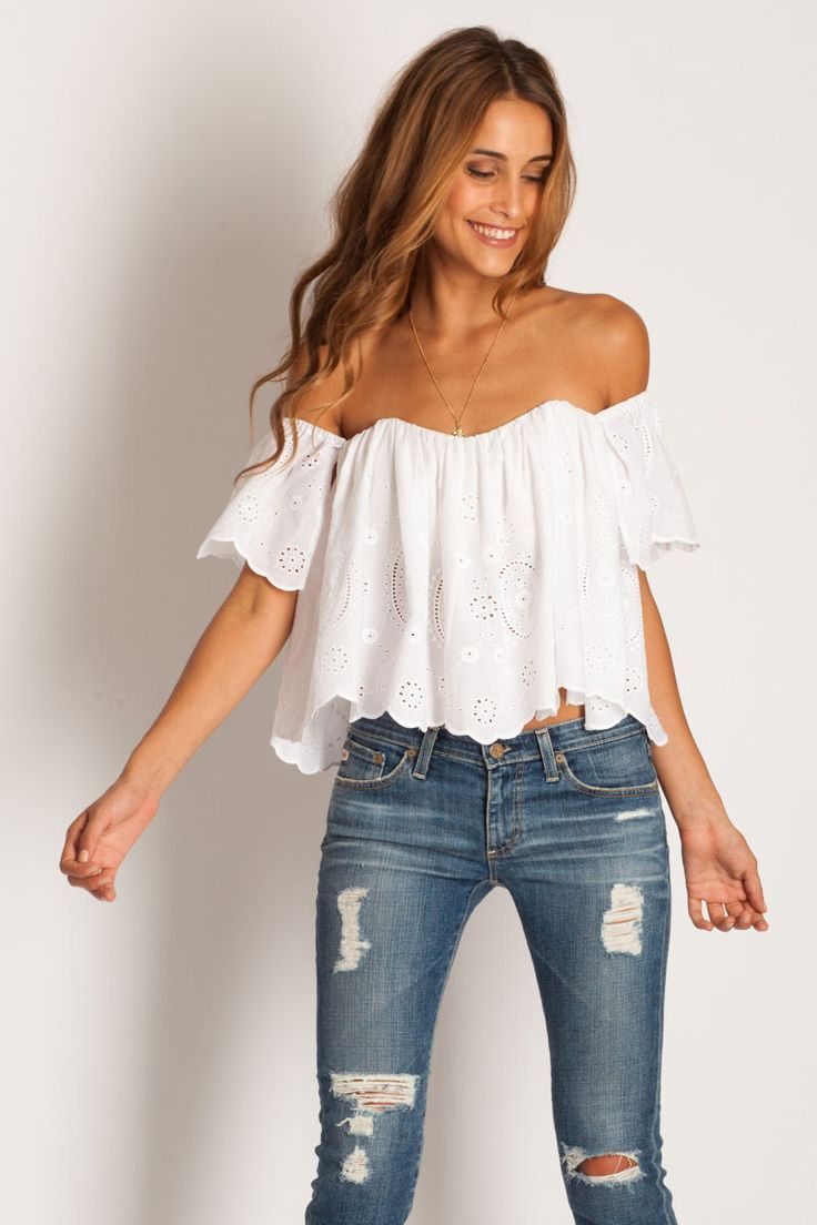 8c2bed5ee3 White Linen Off Shoulder Blouse