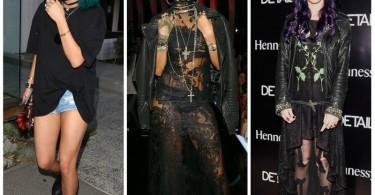 gothic look, rihanna, katy perry, kylie jenner